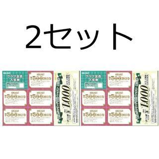 ラウンドワン Round 1 株主優待券 2セット(ボウリング場)
