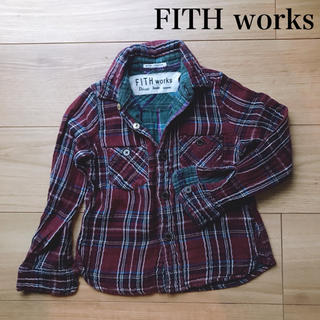 フィス(FITH)のFITH works リバーシブルチェックシャツ 110(ブラウス)