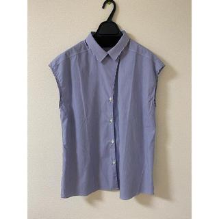 オリアン(ORIAN)のORIAN ストライプフレンチスリーブシャツ(シャツ/ブラウス(半袖/袖なし))