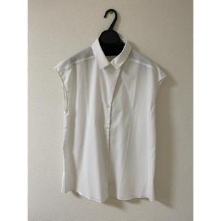 オリアン(ORIAN)のORIAN シャドーストライプフレンチスリーブシャツ(シャツ/ブラウス(半袖/袖なし))