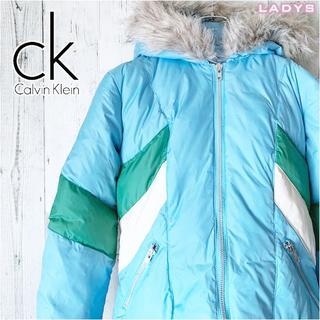 カルバンクライン(Calvin Klein)のカルバンクライン マルチカラー ショート丈 ダウンジャケット M ショートダウン(ダウンジャケット)