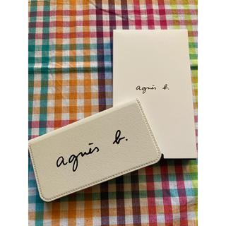アニエスベー(agnes b.)の未使用新品☆アニエスベーiPhoneケース ホワイト(7,8,SE2)(iPhoneケース)
