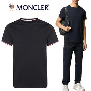モンクレール(MONCLER)の68 MONCLER ネイビー 半袖 Tシャツ size M(ポロシャツ)