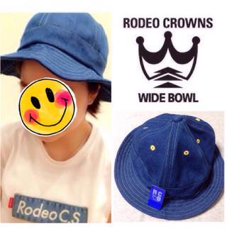 ロデオクラウンズワイドボウル(RODEO CROWNS WIDE BOWL)の未使用♡デニムバケツハット(タグ付き)(ハット)