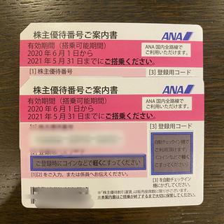 エーエヌエー(ゼンニッポンクウユ)(ANA(全日本空輸))のANA株主優待券 2枚(その他)