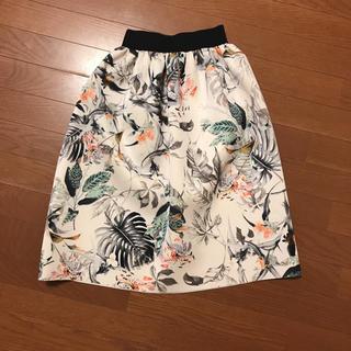 花柄スカート♡美品(ひざ丈スカート)