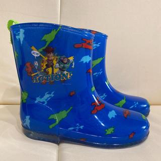 トイストーリー(トイ・ストーリー)の未使用 トイストーリー キッズ 長靴 19 レインブーツ 青 スニーカー 靴(長靴/レインシューズ)
