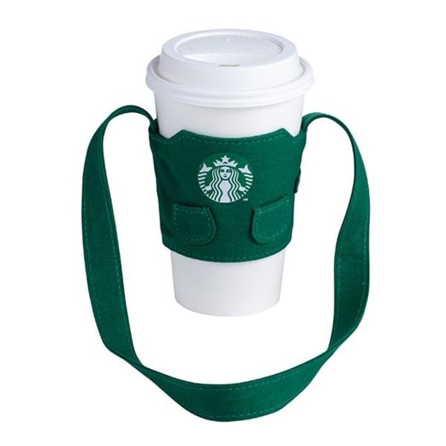 Starbucks Coffee(スターバックスコーヒー)のスターバックス 緑 エプロン カップスリーブ インテリア/住まい/日用品のキッチン/食器(収納/キッチン雑貨)の商品写真