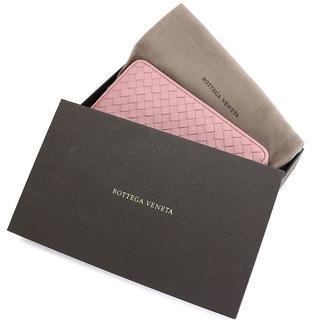 ボッテガヴェネタ(Bottega Veneta)のBottega Veneta ラウンドファスナー長財布 ピンク A2206(財布)