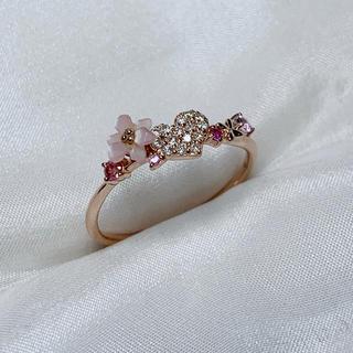 サマンサティアラ(Samantha Tiara)のサマンサティアラ ダイヤモンド サファイア シェルリング(リング(指輪))