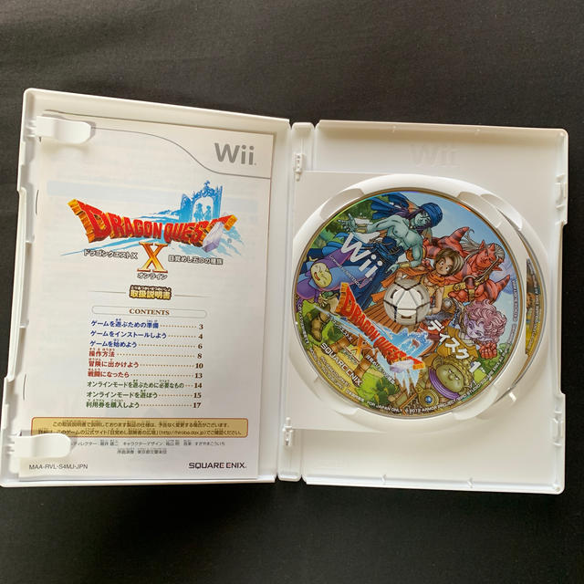 SQUARE ENIX(スクウェアエニックス)のドラゴンクエストX 目覚めし五つの種族 オンライン Wii エンタメ/ホビーのゲームソフト/ゲーム機本体(その他)の商品写真