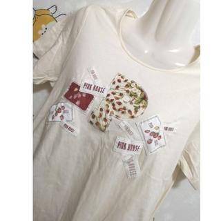 ピンクハウス(PINK HOUSE)のピンクハウス 夏にピッタリ 腰 ロング Tシャツ 半袖 トップス(Tシャツ(半袖/袖なし))