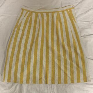フィグロンドン(fig London)のボーダー膝丈スカート(ひざ丈スカート)