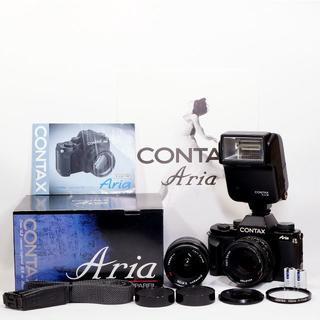 キョウセラ(京セラ)の【美品】アリア CONTAX Aria 2本レンズ+付属品多数(フィルムカメラ)