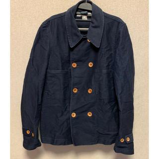 コムデギャルソン(COMME des GARCONS)のコムデギャルソンシャツ ブルードパナム コットンダブルPコート 紺(ピーコート)