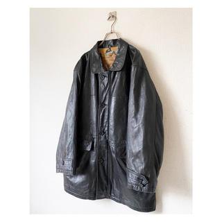 Yohji Yamamoto - vintage ヴィンテージ 90s ブラック 黒 レザージャケット コート