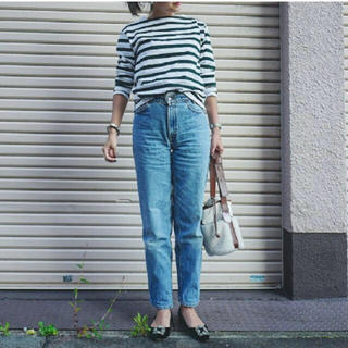ドゥロワー(Drawer)の田中彩子さん着用 drawer ボーダートップス(カットソー(長袖/七分))