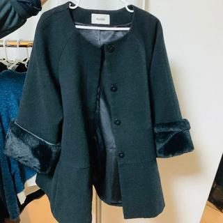 snidel - SNIDEL スナイデル コート FREEサイズ 黒 美品 送料込