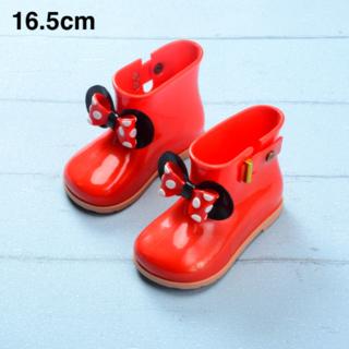 長靴 レインブーツ 赤 16.5cm/ ミニーちゃん ディズニー 好き 17(長靴/レインシューズ)