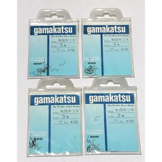 ガマカツ(がまかつ)のがまかつ 製  秋田キツネ 3号 4袋セット  (釣り糸/ライン)