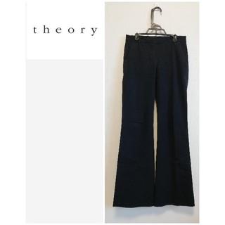 セオリー(theory)の【theory】通年使用可♡スラックス パンツ バギーパンツパンツ ブラック(クロップドパンツ)