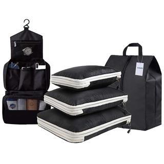 新品 圧縮バッグ 旅行 トラべラブ トイレタリーバッグ 洗面用具入れ フック付き(旅行用品)