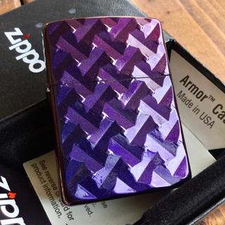 ジッポー(ZIPPO)の新品 Zippo アーマー 漆塗り BL マジョ 両面深彫 ジッポー(タバコグッズ)