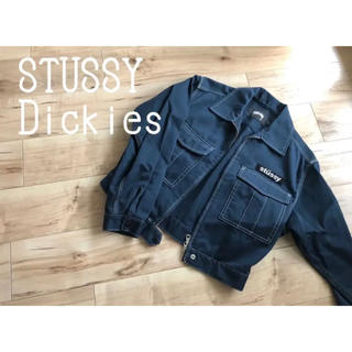 STUSSY - STUSSY Dickies コラボ ブルゾン ネイビー