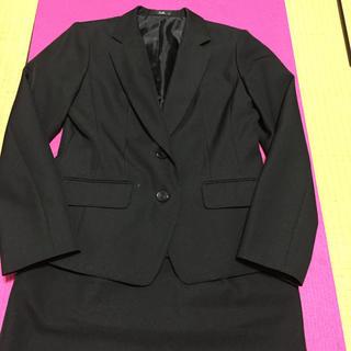 エンジョイ(enjoi)の事務服 スーツ 上下 ブラック(スーツ)