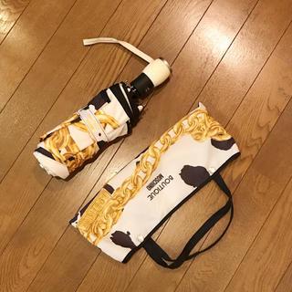 モスキーノ(MOSCHINO)のMOSCHINO モスキーノ 折り畳み傘 レア 美品 梅雨 正規品(傘)