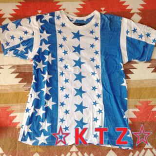 ココントーザイ(Kokon to zai (KTZ))のKTZ☆星柄Tシャツ(Tシャツ/カットソー(半袖/袖なし))