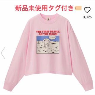 GU - スヌーピー ピンク トレーナー 長袖 M