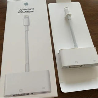 アップル(Apple)のApple Lightning to VGA Adapter(映像用ケーブル)