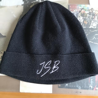 サンダイメジェイソウルブラザーズ(三代目 J Soul Brothers)のJ.S.B. ニットキャップ ブラック(ニット帽/ビーニー)