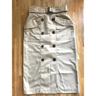 NATURAL BEAUTY BASIC - 【美品】NBBトレンチスカートSサイズ