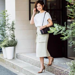 Drawer - 定価五万円 春物ドゥロワーDrawer 新品未使用白スカート セリーヌブラミンク