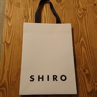 シロ(shiro)のSHIRO ショップ紙袋(ショップ袋)