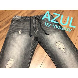 アズールバイマウジー(AZUL by moussy)のアズール AZUL メンズ ダメージ スウェット ドビーデニム スキニーパンツ(デニム/ジーンズ)