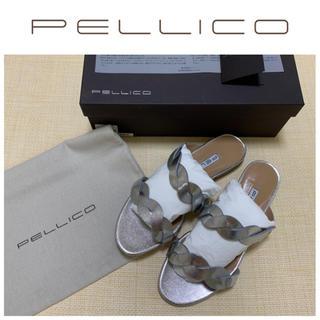 ペリーコ(PELLICO)の新品 ペリーコ 5.4万 フラット サンダル シルバー 23cm 36(サンダル)
