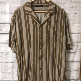RAGEBLUE - レイジブルー オープンカラーシャツ 半袖シャツ ストライプ