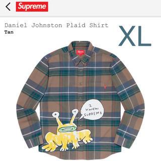 シュプリーム(Supreme)のSupreme Daniel Johnston Plaid Shirt Tan(シャツ)