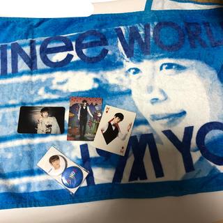 シャイニー(SHINee)のSHINee ミノ ミンホ グッズ 6点セット トレカ バッジ タオル (K-POP/アジア)