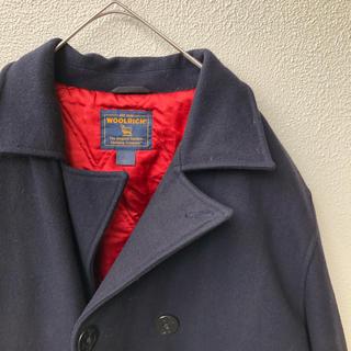 ウールリッチ(WOOLRICH)の90's woolrich ウールリッチ Pコート ブラック ヴィンテージ 毛(ピーコート)