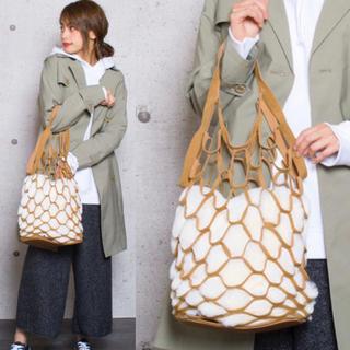 ROSE BUD - 新品 バースデイルーム ファー 巾着 ネットバッグ キャメル ハンドバッグ