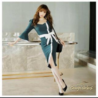 デイジーストア(dazzy store)のdazzystore パール付き膝丈ドレス(ナイトドレス)