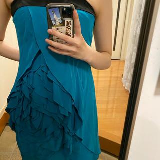 グレースコンチネンタル(GRACE CONTINENTAL)のグレースコンチネンタル ドレス ターコイズ ブルー(ミディアムドレス)