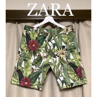 ザラ(ZARA)のZARA ボタニカルショートパンツ!(ショートパンツ)