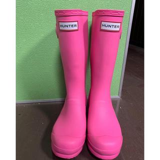 ハンター(HUNTER)の極美品HUNTER長靴 UK2 US 4G/3B EU34 (長靴/レインシューズ)