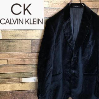 Calvin Klein - 【激レア】カルバンクライン テーラードジャケット ベロア素材 ブラック