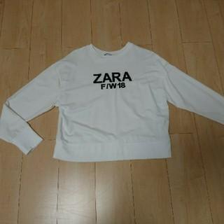 ザラ(ZARA)のZARAスエットトップス(トレーナー/スウェット)